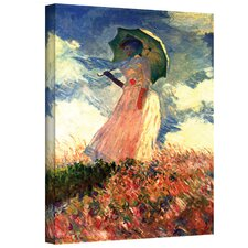 ''Woman with Sunshade'' by Claude Monet Painting Print on Canvas