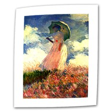 """Woman with Sunshade"" by Claude Monet Painting Print on Canvas"