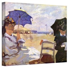 ''The Beach'' by Claude Monet Painting Print on Canvas