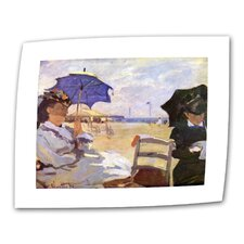 """The Beach"" by Claude Monet Painting Print on Canvas"