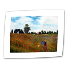 """Red Poppies at Argenteuil"" by Claude Monet Painting Print on Canvas"