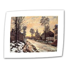 "Claude Monet ""Snowy Country Road"" Canvas Wall Art"