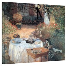 ''Garden Picnic'' by Claude Monet Painting Print on Canvas