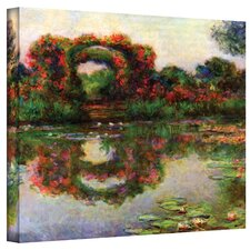 ''Foliage Trestle'' by Claude Monet Painting Print on Canvas