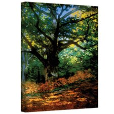 ''Bodmer Oak at Fountainbleau'' by Claude Monet Canvas Painting Print