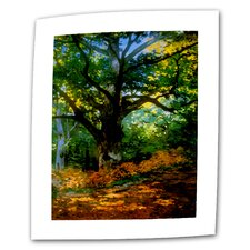 """Bodmer Oak at Fountainbleau Forest"" by Claude Monet Painting Print on Canvas"