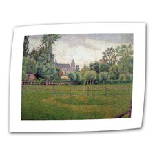 """""""Church at Gisors"""" by Camille Pissarro Painting Print on Canvas"""