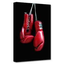 Dan Holm 'Red Gloves' Gallery-Wrapped Canvas Wall Art