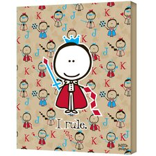 Felittle People ''I Rule'' Canvas Art