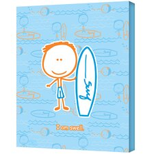 <strong>Art Wall</strong> Felittle People ''Surf Boy'' Canvas Art