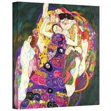 ''Virgins'' by Gustav Klimt Painting Print on Canvas