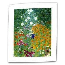 """Farm Garden""by Gustav Klimt Painting Print on Canvas"