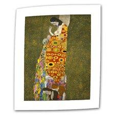 """Hope"" by Gustav Klimt Painting Print on Canvas"