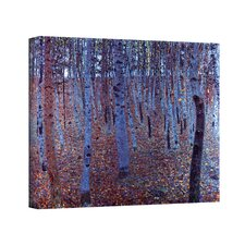 ''Beeche Forest'' by Gustav Klimt Painting Print on Canvas