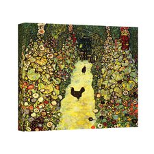 ''Garden Path with Chickens'' by Gustav Klimt Painting Print on Canvas