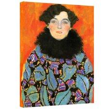 """Johanna Staude'' by Gustav Klimt Canvas Painting Print"