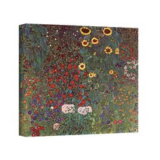 ''Sunflower Grade'' by Gustav Klimt Painting Print on Canvas