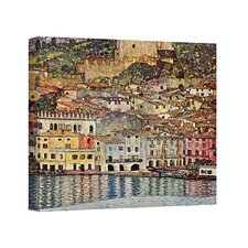 ''Malcesina at Gardasee'' by Gustav Klimt Painting Print on Canvas