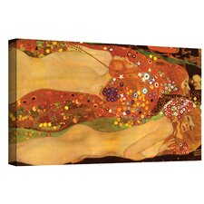''Water Snakes'' by Gustav Klimt Painting Print on Canvas