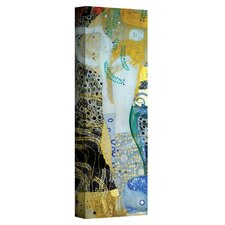 ''Water Serpents Blonde'' by Gustav Klimt Painting Print on Canvas