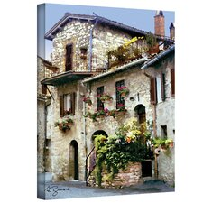 ''Assisi Italy'' by George Zucconi Painting Print on Canvas