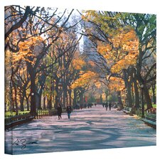 ''Central Park'' by George Zucconi Painting Print on Canvas