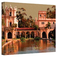 ''Lily Pond Balboa Park'' by George Zucconi Painting Print on Canvas