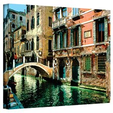 ''Venice Canal France'' by George Zucconi Painting Print on Cavas