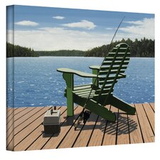''Fishing Chair'' by Ken Kirsch Photographic Print on Canvas