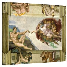 ''The Creation of Adam'' by Michelangelo Painting Print on Canvas
