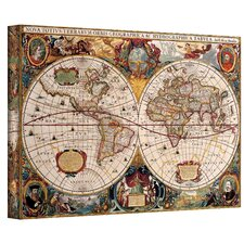 Antique ''Hydrographical Map'' Canvas Art