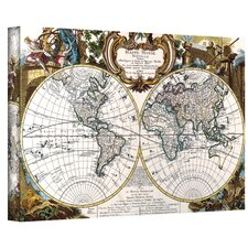 Antique ''World Map Circa 1499'' Graphic Art on Canvas
