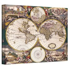 Antique ''Terrarum Orbis Antique Map'' Graphic Art on Canvas