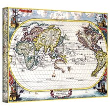 Antique ''Navigationes Praecivae Evropaeorvm Antique Map'' Graphic Art on Canvas