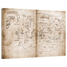 Antique Maps 'The Vinland Map' Gallery-Wrapped Canvas Wall Art