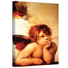 ''Cherub'' by Raphael Painting Print on Canvas