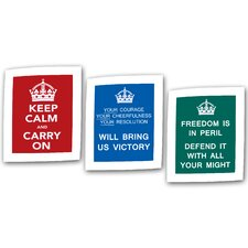 Government of the United Kingdom Canvas Wall Art (Set of 3)