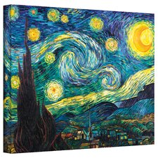 ''Starry Night'' by Vincent Van Gogh Painting Print on Canvas