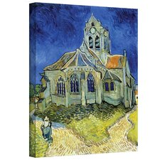 ''The Church at Auvers'' by Vincent Van Gogh Painting Print on Canvas