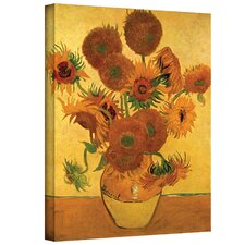 ''Vase with Fifteen Sunflowers'' by Vincent Van Gogh Painting Print on Canvas