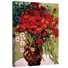 ''Red Poppies and Daisies'' by Vincent Van Gogh Painting Print on Canvas