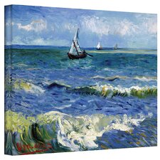 ''Seascape at Saintes Maries'' by Vincent Van Gogh Painting Print on Canvas