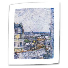 """Paris from Vincent's Room"" by Vincent van Gogh Painting Print on Canvas"