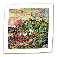 """Cottages Reminiscent of North"" by Vincent van Gogh Painting Print on Canvas"
