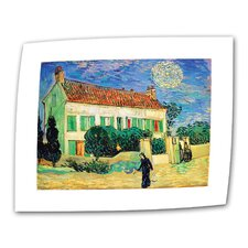 """""""The White House at Night"""" by Vincent van Gogh Painting Print on Canvas"""