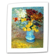 """Vase with Red Poppies"" by Vincent van Gogh Painting Print on Canvas"