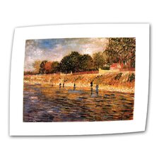 """Banks of the Seine"" by Vincent van Gogh Painting Print on Canvas"