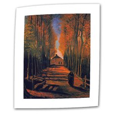 """Avenue of Poplars in Autumn"" by Vincent van Gogh Painting Print on Canvas"