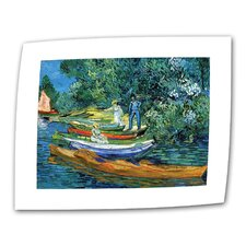 """Bank of the Oise at Auvers"" by Vincent van Gogh Painting Print on Canvas"