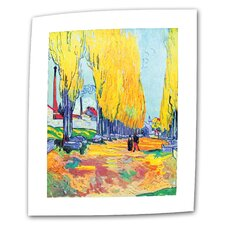 """Les Alyscamps"" by Vincent van Gogh Painting Print on Canvas"